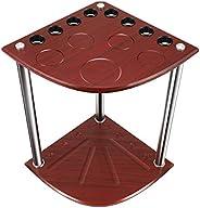 H HUKOER Billiard Cue Rack Floor Stand - 8 Pool Billiard Stick Holder, Easy to Assemble, Sturdy Enough, Cue Ra