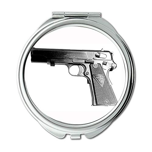 Yanteng Mirror,Makeup Mirror,a Pistol for Paddy Garcia,Round Mirror,Pistol Secret Service,Pocket Mirror,Portable - Bathroom Mirrors With Lights Philippines