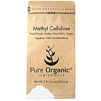 Methylcellulose Powder (1 lb) by Pure Organic Ingredients is 100% Pure and  Contains No