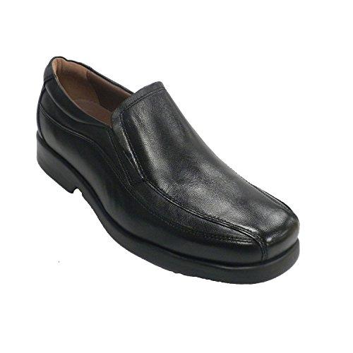 MADE IN SPAIN Zapato cnpala Lisa y Pespuntes Laterales. Fleximax EN Negro