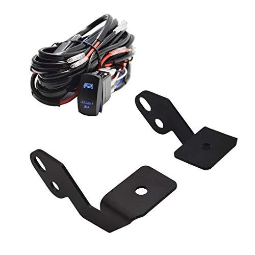 Front A-Pillar LED Work Light Mounting brackets w/Rocker Switch Wiring Kit For UTV Off Road 2014-2019 POLARIS RZR XP 1000 RZR 900
