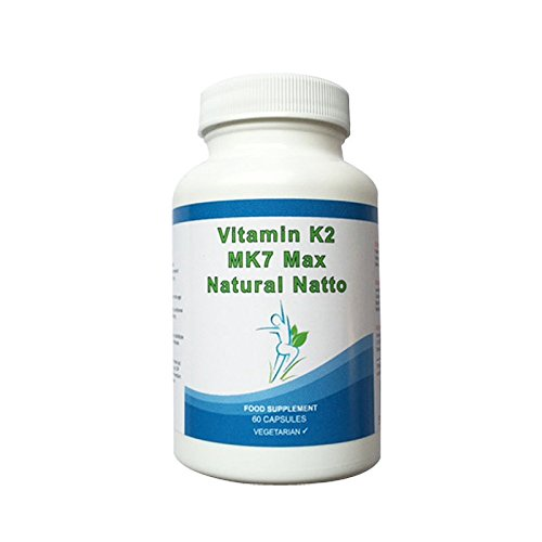 180 Vitamin K2 Mk7 Natural Natto Super Strength 100mcg Vegetarian Capsules Slender Product by Slender product