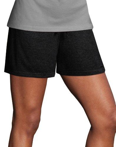40 Cotton Polyester Short - Champion Women's Favorite Short, Black, Large