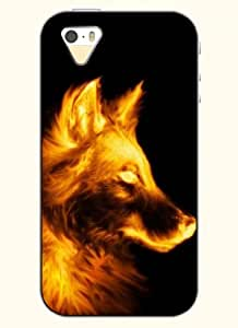 OOFIT Phone Case design with Fire Wolf for Apple iPhone 4 4s 4g by supermalls