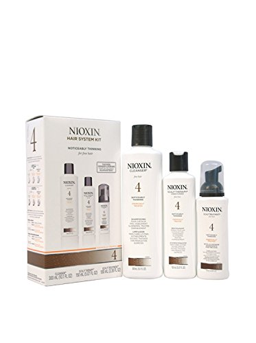 Nioxin System 4 Kit Noticeably Thinning Fine Chemically Treated Hair