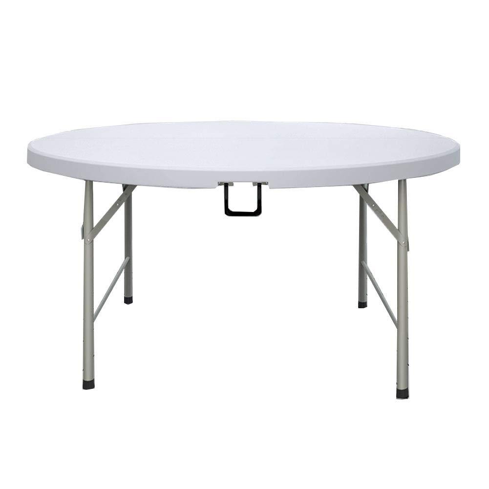 NJLC折りたたみサイドテーブル 、ホームシンプルな大型ラウンドテーブル折りたたみ式テーブル折りたたみ多機能テーブル,122×122×74cm 122×122×74cm  B07MT5DZH7