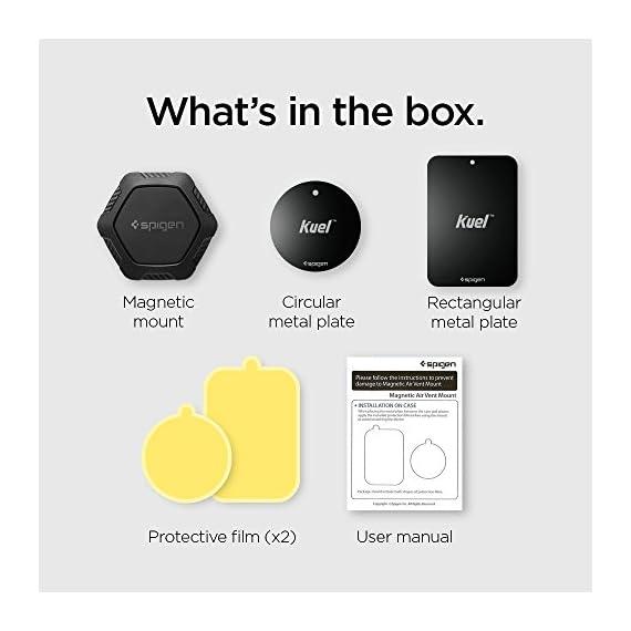 Spigen QS11 Quad Car Phone Mount Magnetic Air Vent Phone Holder | QNMP Compatible with Most Smartphones - Black 2