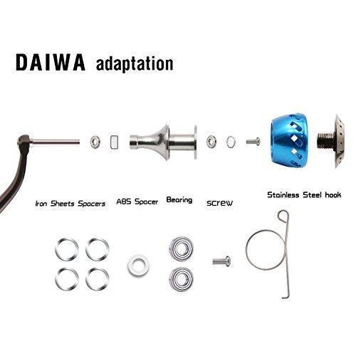 84ca689b0fc SANLIKE Fishing Reel Knob For Shimano B Reel/Daiwa L Reel Aluminum Power Knob  Spinning Reel ...