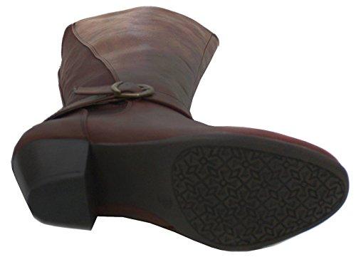 Neu Damen Braun Langes Bein Comfort Plus Stiefel Weite Passform - braun - UK GRÖßEN 3-8