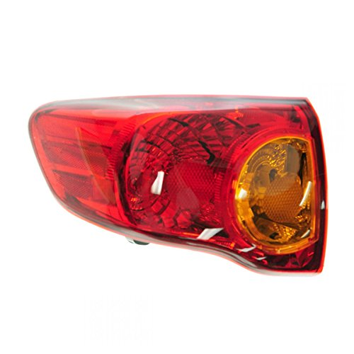(Taillight Taillamp Rear Brake Light Driver Side Left LH for 09-10 Corolla)