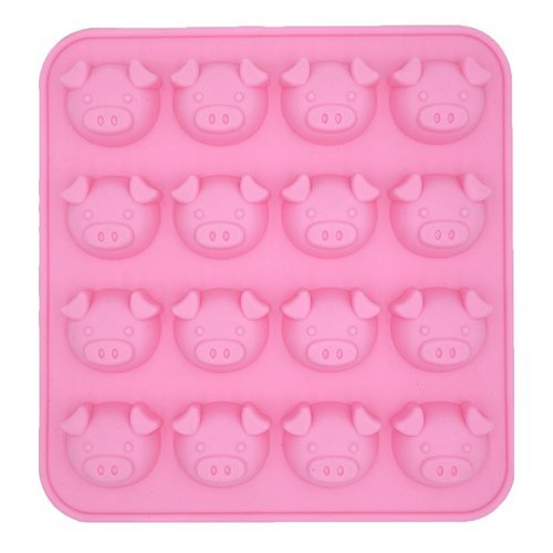 CECIINION Chocolate Molds, Candy Molds, Silicone Molds, Soap Molds, Silicone Baking Molds-16pcs Cute Pig