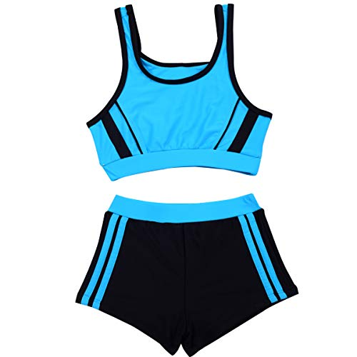 ae9c03dceb013 SherryDC Little Girls Two Pieces Sporty Tankini Bikini Swimwear Bathing Suit  with Shorts