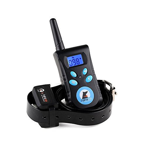 Large Dog Training Collar Rechargeable 500 Yd Remote Blue Screen Waterproof 100 Level Vibrate Shake Pet Bark Stop Collar Trainer E-Collar Pet Dog No Bark Stopper PD 520C (1 Set for 1 Dog) Review