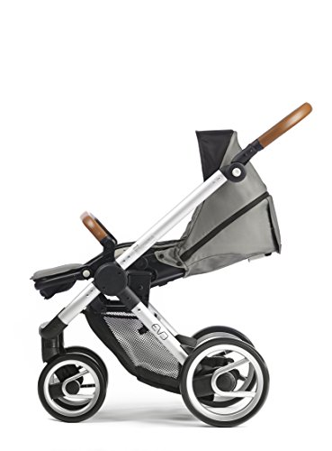 Mutsy Evo Urban Nomad Stroller, Silver Chassis, Light Grey by Mutsy (Image #1)