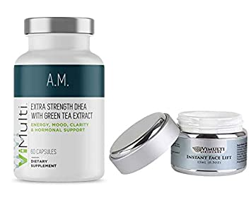 Vimulti Am Extra Strength Dhea Supplement Plus Vimulti Instant Face Lift An Age Defying Combination