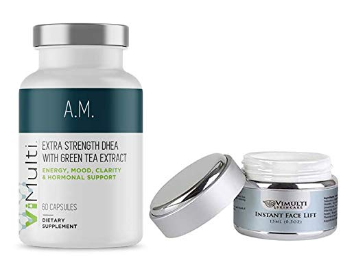 ViMulti AM Extra Strength DHEA Supplement PLUS ViMulti Instant Face Lift. An Age-Defying Combination. by vimulti (Image #9)