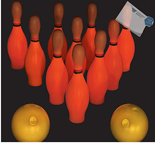 Bargain World Small Glow-in-the-Dark Bowling Set (With Sticky Notes)