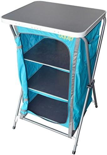 Uquip Charly - Armario de Camping Plegable - 3 Compartimentos, Cierre de Cremallera, mosquitera