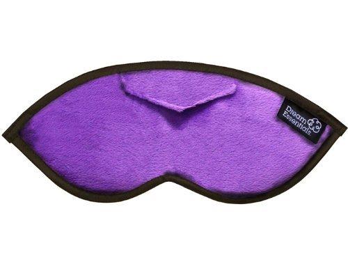 (Dream Essentials Opulence Sleep Mask with Earplug Pocket and Earplugs, Plush Purple)