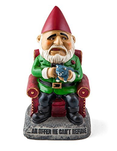 Cheap Big Mouth Toys an Offer He Can't Refuse Garden Gnome Statues