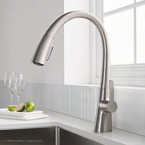 e Kitchen Faucet, Stainless, Pull Down, Single handle in all-Brite Steel Finish KPF-1673SFS ()