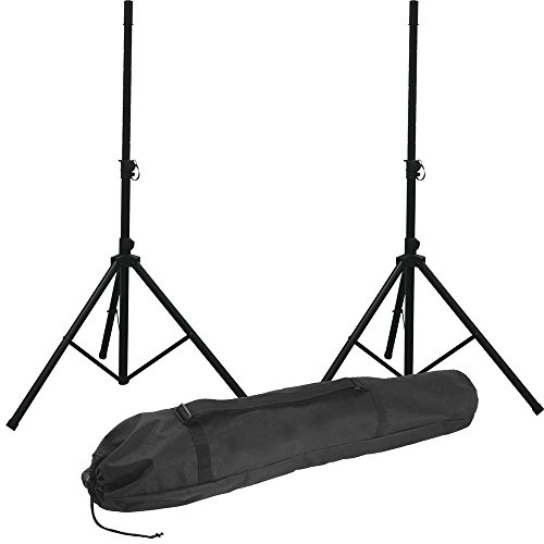 Aluminum Speaker Stand Dual Pack with Bag - New (Stand Pak Speaker)