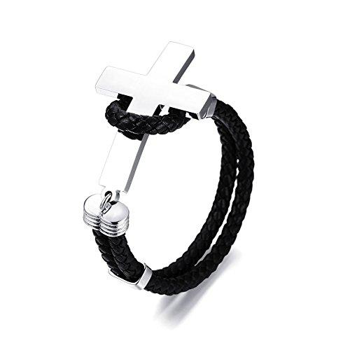 Titanium+Steel+Bracelet+for+Men%2CFashion+Design+Jewelry+with+Cross+Bracelet+Non-fading+Bangle+Bracelets