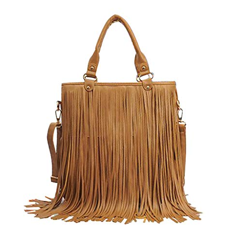 Moto Bag Long Tassel Top Handle Bag Leather Messenger Vintage Shoulder Bag Punk Rivet Stud Hand Bag