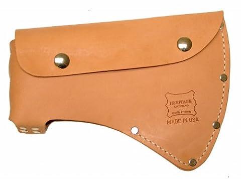 Heritage Leather 1001 Standard Single Bit Leather Axe Sheath (Max Axe Tool)