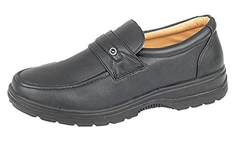 Herren Slip On schwarz Schuhe, Casual, Komfort, Gr. 6-12