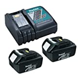 Makita OEM DC18RC Charger & 2 BL1830 3.0 Ah Batteries