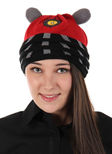 elope Doctor Who Dalek Costume Knit Beanie Red]()