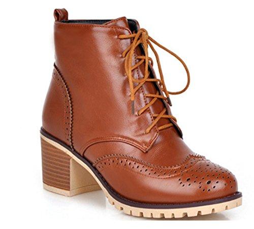KUKI Herbst Stiefel Martin Stiefel Low-heeled Schuhe große Stiefel billig Frauen Stiefel leichte atmungsaktive Freizeitschuhe yellow