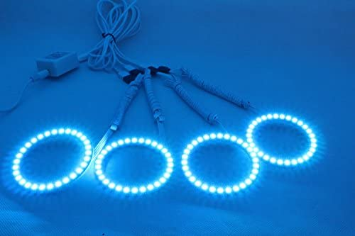 Newsun multicolore RGB LED Halo anelli Light 72/mm 75/mm 80/mm 90/mm 100/mm 120/mm 5050/SMD super luminoso cambia colore Angel Eyes Kit