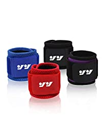 Can Adjusted Sports Wrist Sweatband - High Stretch Cotton Sports Belt Cotton Terry Cloth Wristband 2 Pack,Can be Wholesale