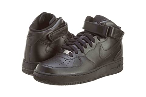 Nike Mens Air Force 1 Mid 07 Basketball Shoes Black/Black 315123-001 Size (Nike Lifestyle Scarpe)