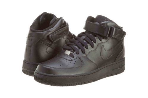 Nike Men's Air Force 1 Mid '07 Black/Black/Black Basketball Shoe 9.5 Men US (Classic Nike Sneakers compare prices)