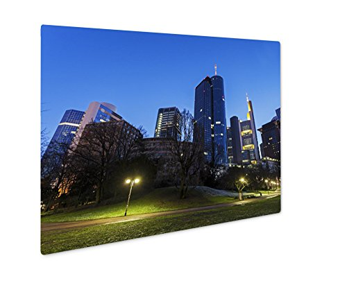 ashley-giclee-metal-panel-print-modern-architecture-of-downtown-of-frankfurt-8x10