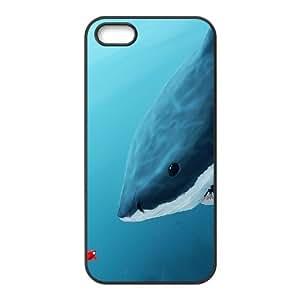 WJHSSB Diy Deep Sea Shark Selling Hard Back Case for Iphone 5 5g 5s