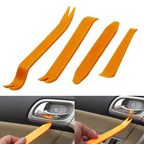 AURELIO TECH CIT-0001-04 Orange 4pcs Auto Car Radio Door Clip Panel Trim Dash Audio Removal Installer Pry Tool, 4 Pack