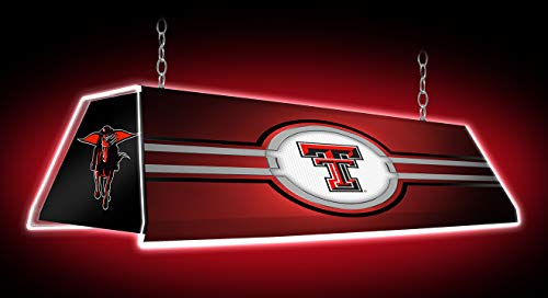 Shop Grimm Texas Tech Red Raiders Billiards Pool Table Light Featuring Their Double T and Masked Rider Logos - Made in USA