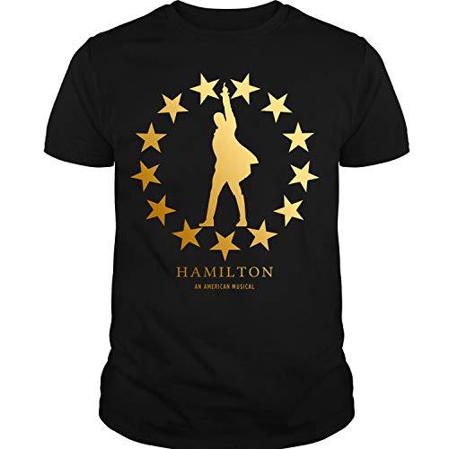 Hamilton Star (Hamilton Gold Star T Shirt, an American Musical Hamilton T Shirt Unisex (L,Black))