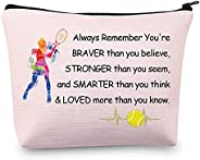 MBMSO Tennis Zipper Pouch Tennis Player Gifts Tennis Makeup Cosmetic Bag Tennis Gifts For Women Tennis Travel
