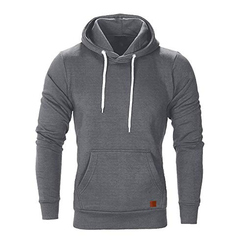 ◕‿◕ Toponly Long Sleeve Hoodies for Men Autumn Winter Casual Sweatshirt Top