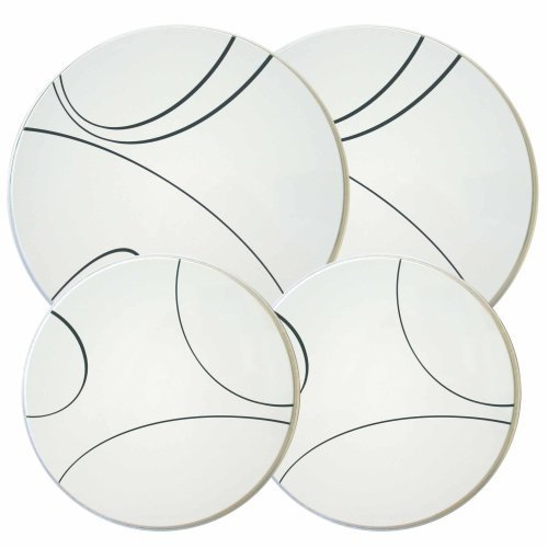 Corelle Coordinates Burner Cover Set of 4, Simple Lines by (Corelle Burner Covers)