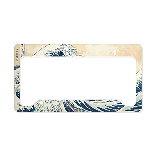CafePress Wave Aluminum License Plate Frame, License Tag Holder (License Plate Frame Cafe Press)