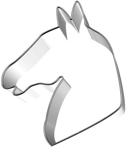 Birkmann 10106937106,5cm Cabeza de Caballo Cortador de Galletas, Acero Inoxidable, de plástico, Gris, 5x 3x 2cm