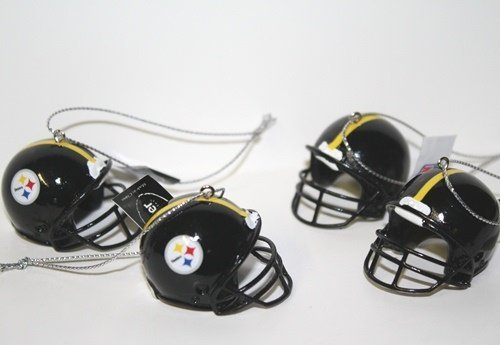 Pittsburgh Steelers NFL Mini Helmet Ornaments 4 Pack -