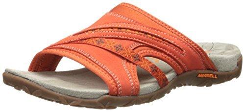 Merrell Terran Slide, Women's Wedge Heels Sandals, Orange (Red Clay), UK Size 3 (EU 36, US 5) by Merrell