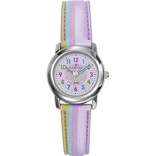 Certus Paris Kids' 647382 Round Purple Dial Plastic Bracelet Watch by Certus